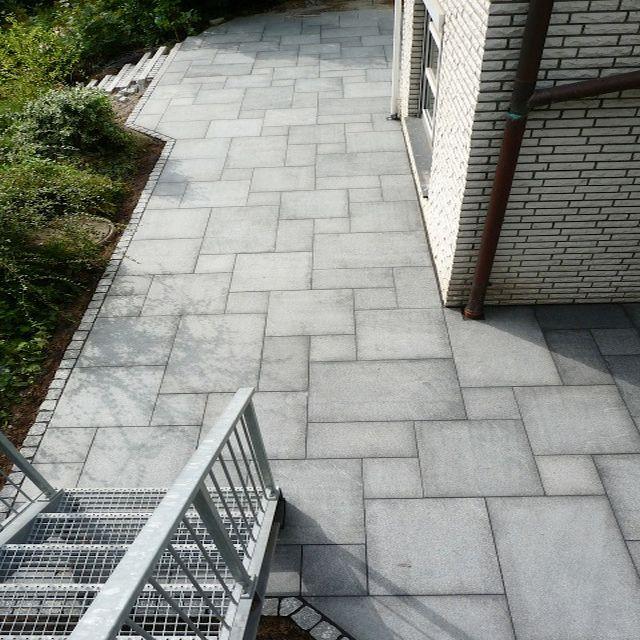 Terrassen Bild Nachher