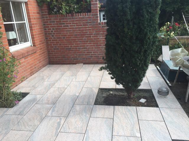 Keramische Bodenplatten 80x40x2cm Juparana rose-grau von Emperor