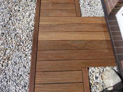 Holzterrasse aus Garapa